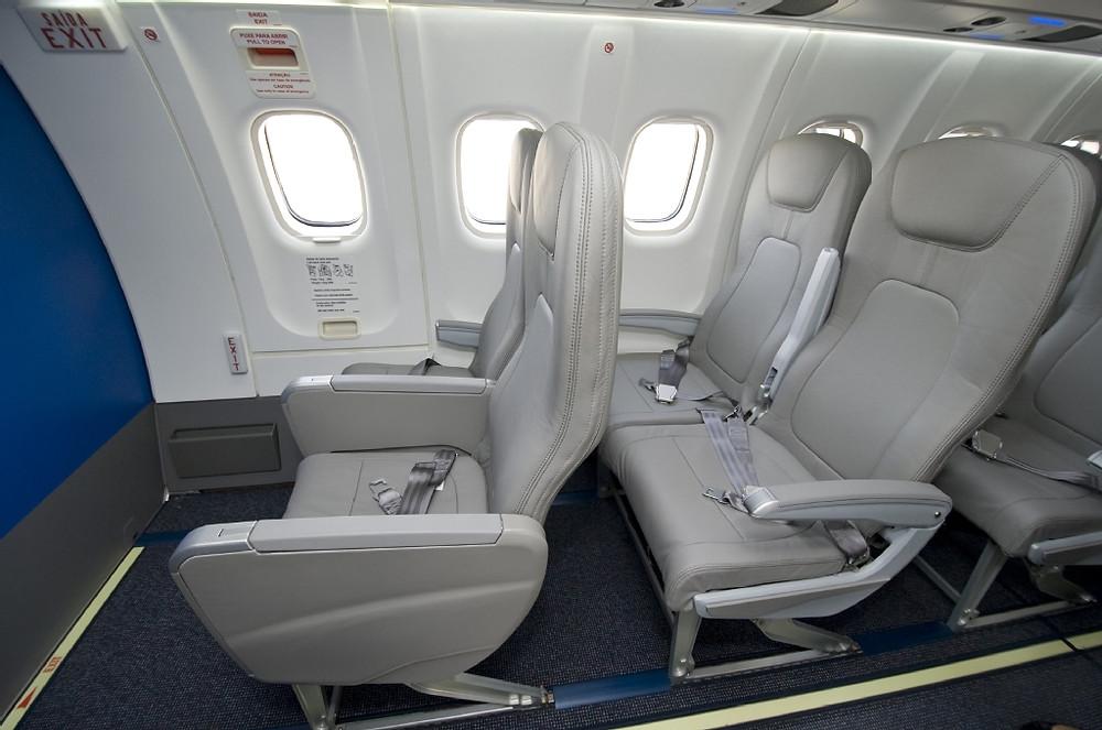 Interior do ATR 600 - Azul