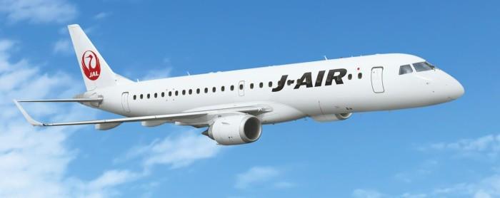 E190 estreia no Japão com a J-AIR, subsidiária da Japan Airlines