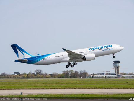 Aviação: Corsair recebe seu primeiro Airbus A330neo