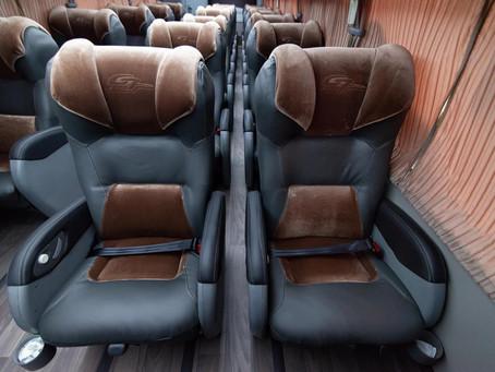 Marcopolo  desenvolve ônibus para a Viação Garcia com separação entre poltronas