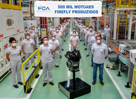 FCA atinge 500 mil motores Firefly produzidos no Brasil