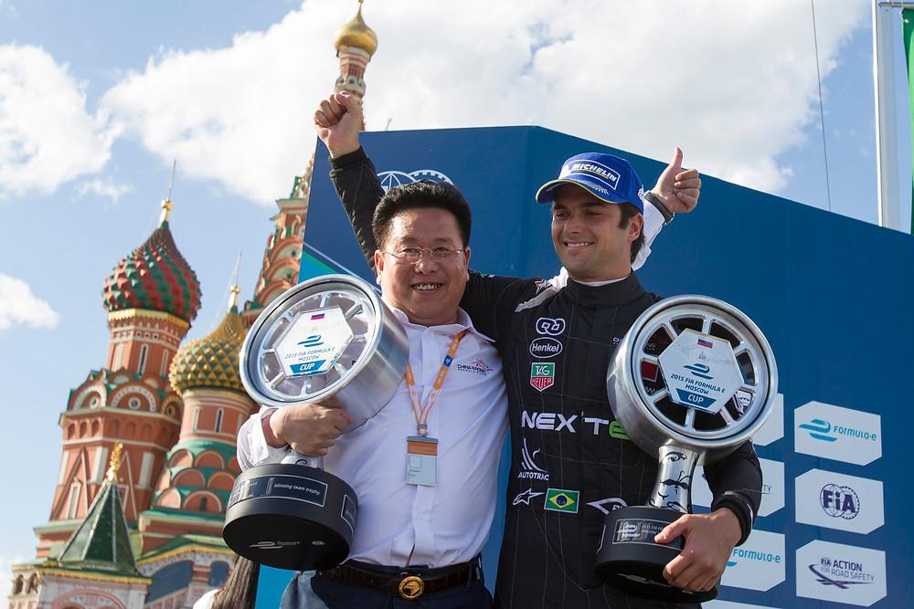 Nelsinho Piquet inicia defesa do título da Fórmula E
