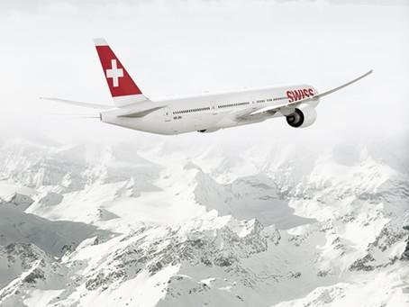Novo Boeing 777 da SWISS que vai operar em São Paulo, oferece internet e roaming a bordo