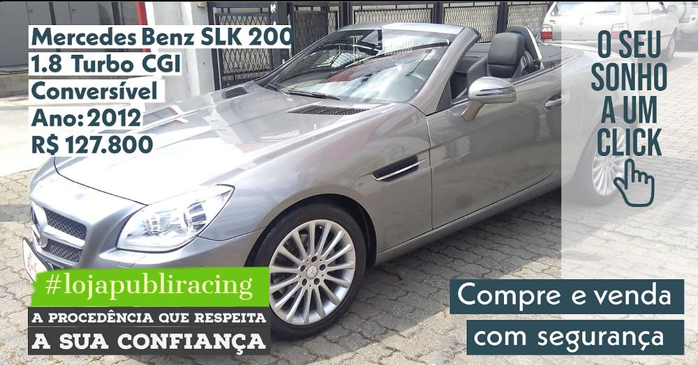 NA #LOJA PUBLIRACING - Mercedes-Benz SLK 200 Conversível - Ano 2012