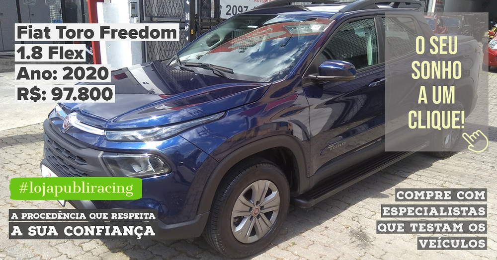 ACESSE #LOJAPUBLIRACING CLICANDO - Fiat Toro Freedom - Ano 2020