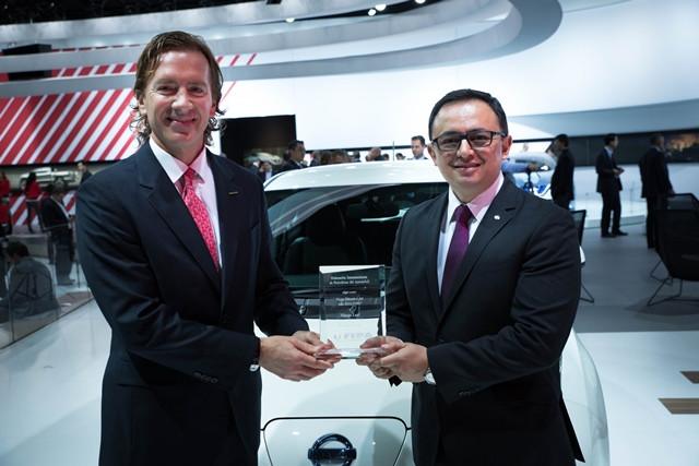 Nissan LEAF ganha mais um prémio em Detroit