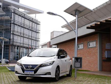 Nissan e UFSC vão testar baterias de segunda vida do LEAF para armazenar energia de postes de luz so