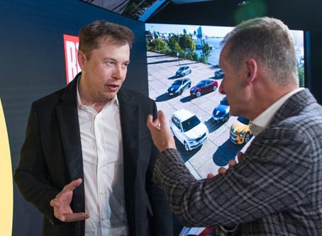 Expressas: Elon Musk testa elétrico da Volkswagen