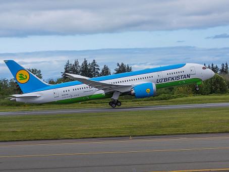 Aviação: Uzbekistan Airways leva importante doação da Boeing para o Uzbequistão