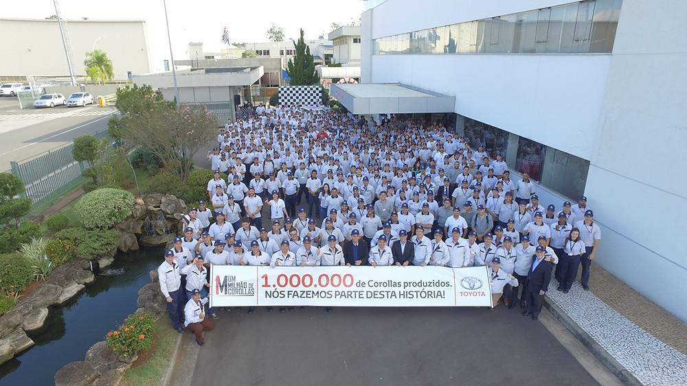 Toyota comemora 20 anos de operação em Indaiatuba com anúncio de R$ 1 bilhão de investimento