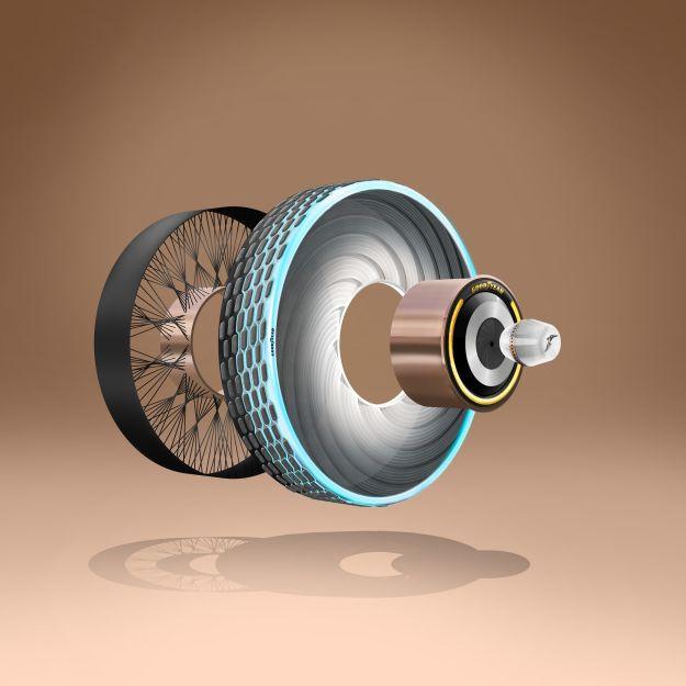 Goodyear divulga seu mais recente pneu-conceito recarregável