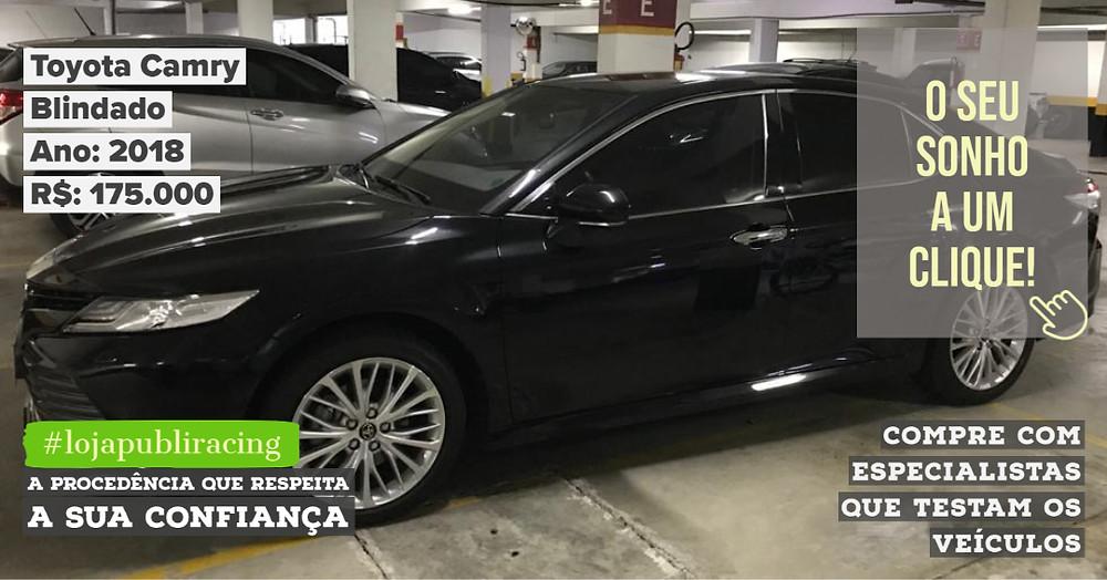 ACESSE #LOJAPUBLIRACING CLICANDO - Toyota Camry Blindado