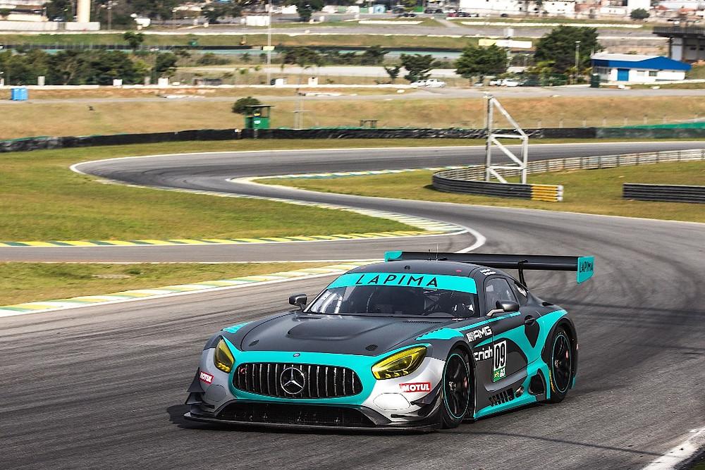 Endurance: Inspirado nas cores da equipe oficial na Fórmula 1, Mercedes AMG GT3 chega a Interlagos com nova pintura