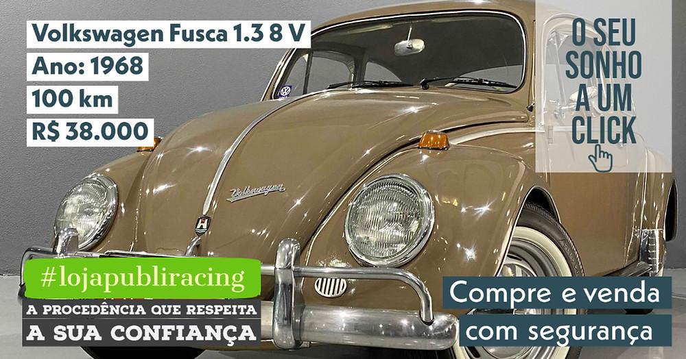 ACESSE #LOJA CLICANDO - Volkswagen Fusca 1.3 - Ano 1968