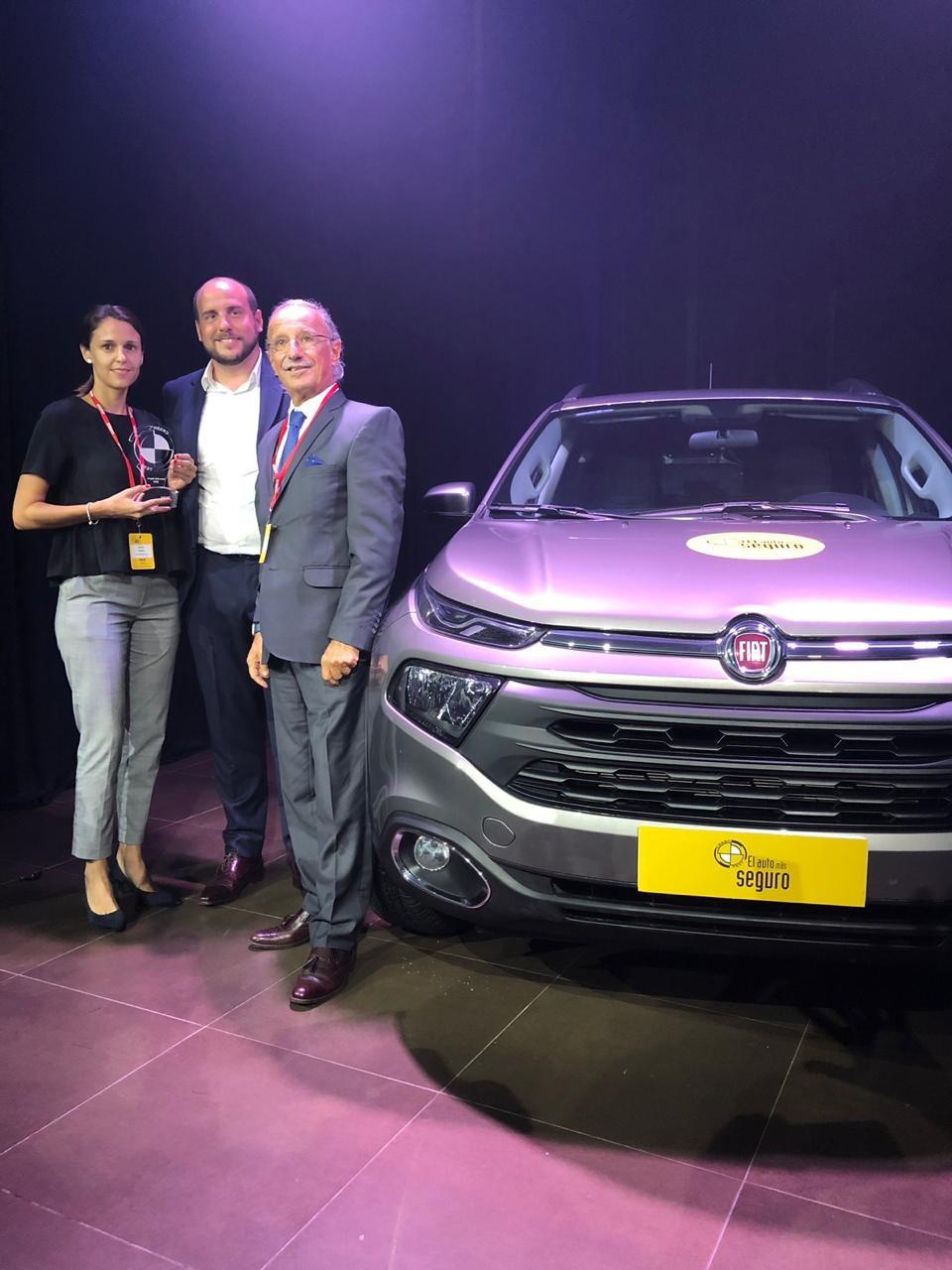 Fiat Toro reconhecido pela segurança na Argentina