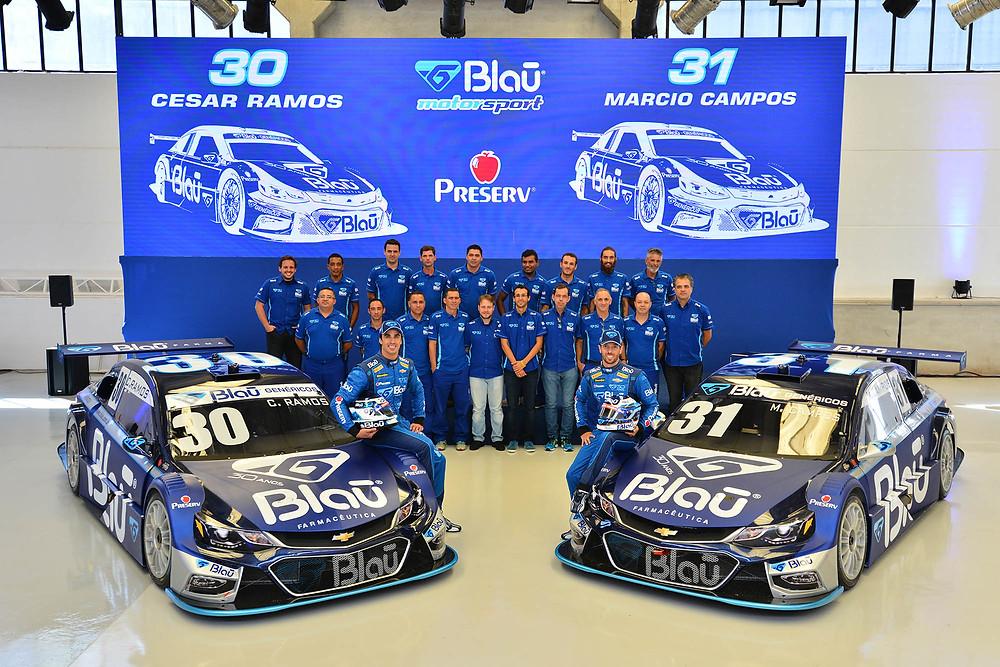 Blau Farmacêutica apresenta sua equipe para a temporada 2017 da Stock Car
