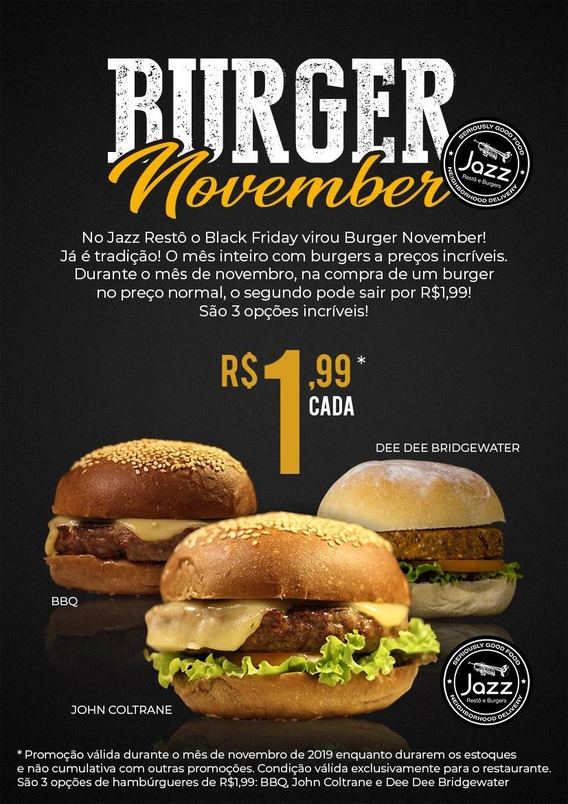 Jazz Restô e Burger lança oferta especial no mês de Novembro