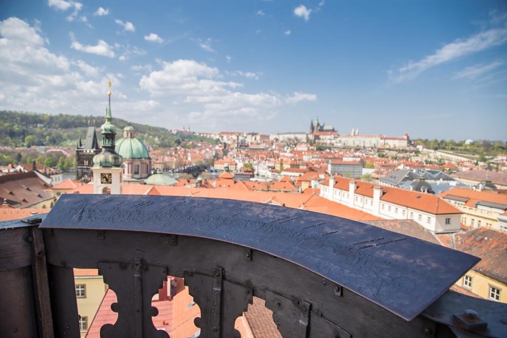 Vista do Klementinum, em Praga.