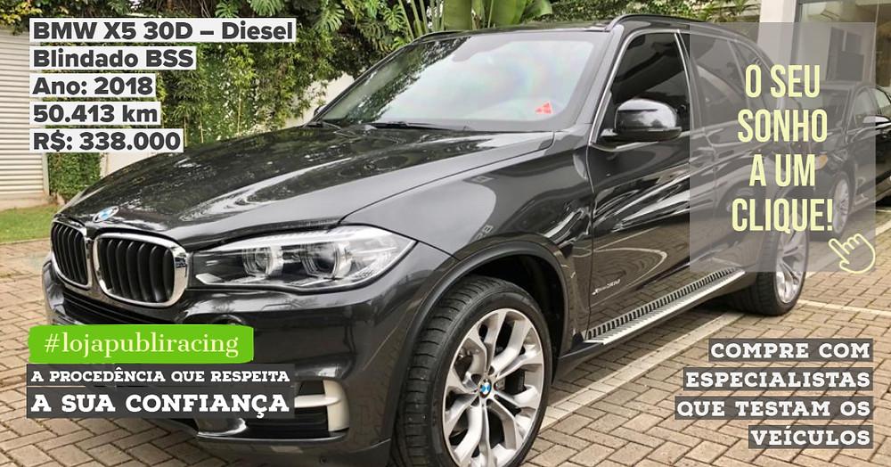 ACESSE #LOJAPUBLIRACING CLICANDO - BMW X5 Diesel - Ano 2018