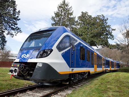 Apresentados os novos trens da CAF para a Holanda