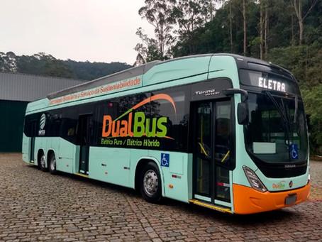 Marcopolo produz a carroceria para o novo ônibus Dual da Eletra