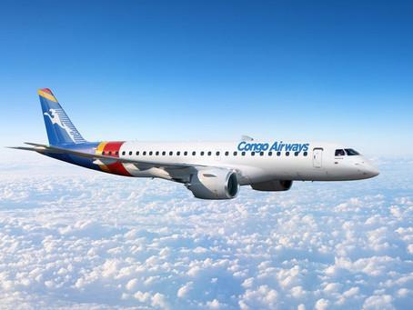 Aviação: Congo Airways fecha pedido para dois jatos E195-E2