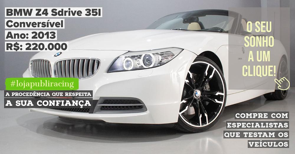 ACESSE #LOJAPUBLIRACING CLICANDO - BMW Z4 Conversível Ano 2013