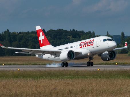 SWISS recebe a primeira aeronave Bombardier C Series