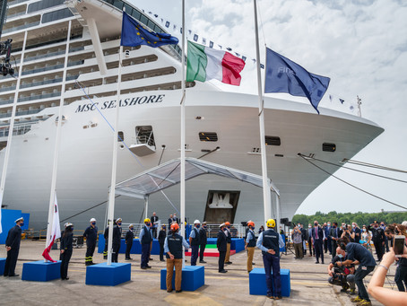 Turismo: MSC Cruzeiros recebe do estaleiro Fincantieri o novo MSC Seashore