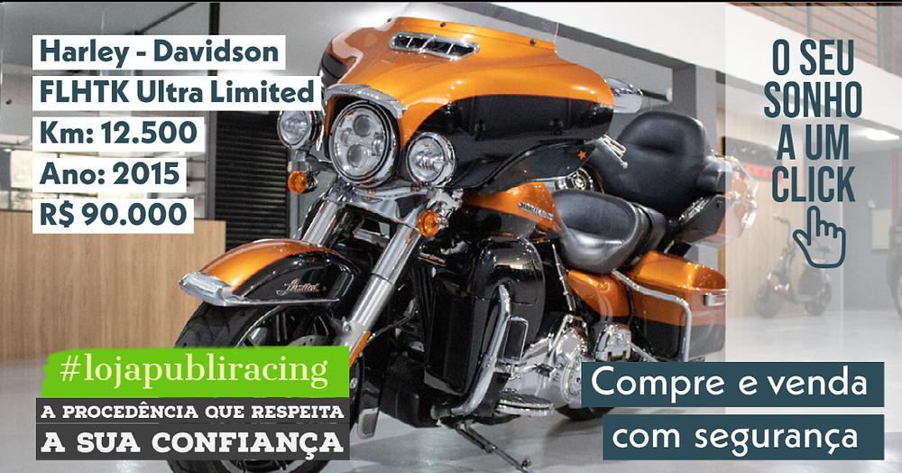 NA #LOJA PUBLIRACING - Harley Davidson FLHTK Ultra - Ano 2015