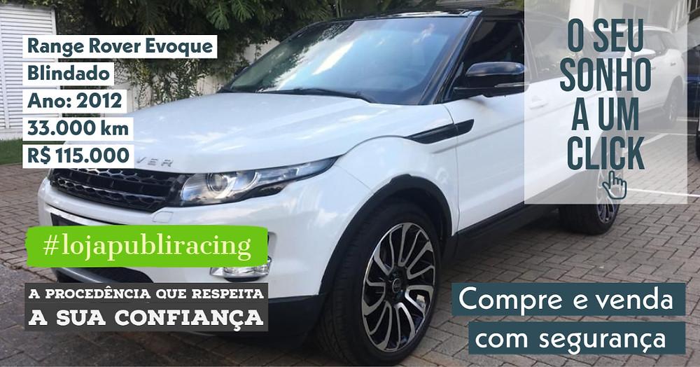 ACESSE #LOJA PUBLIRACING - Range Rover Evoque - Blindado