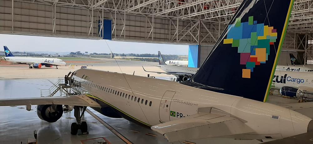 Aviação: Hangar da Azul em Campinas completa um ano de operação