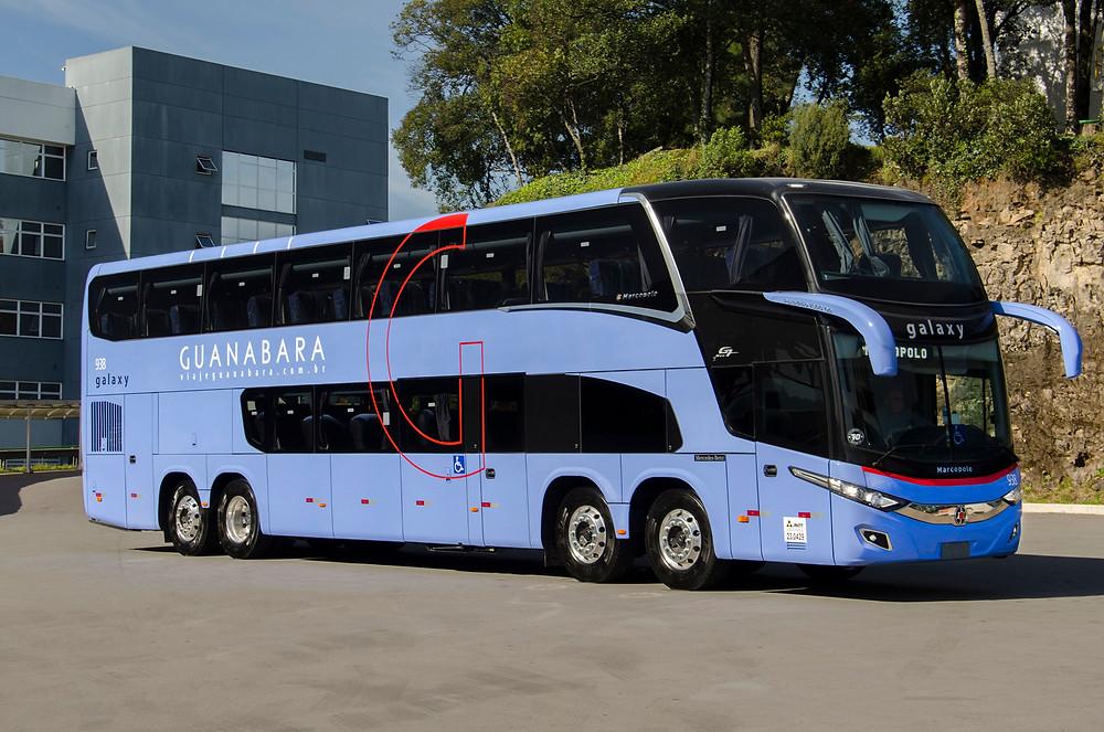 Expresso Guanabara adquire primeiros ônibus Marcopolo Paradiso 1800 double decker de 15 metros