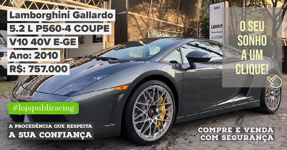 ACESSE #LOJAPUBLIRACING CLICANDO - Lamborghini Gallardo Ano 2010