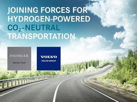 Volvo e Daimler Trucks unidas pelo hidrogénio