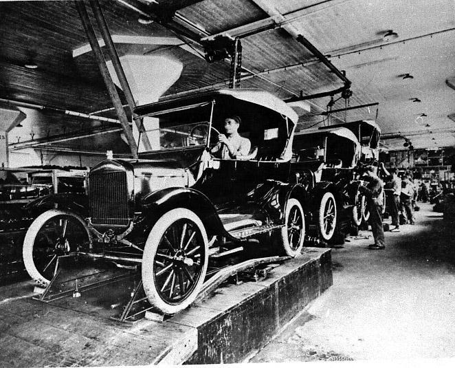 Linha de montagem Ford T SP