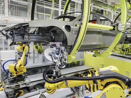 A Porsche adota novo processo de produção para o Taycan