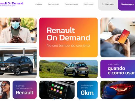 Renault lança seu serviço de assinatura On Demand