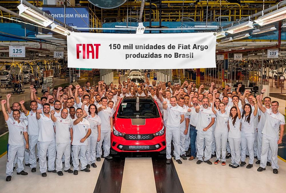 Na marca das 150 mil unidades produzidas do Argo, polo automotivo da Fiat em Betim completa 43 anos