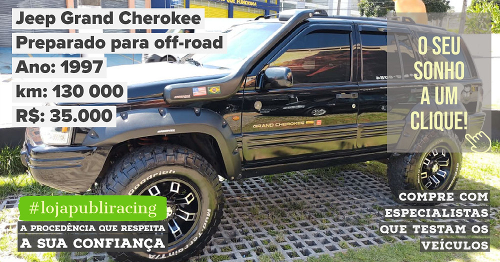 ACESSE #LOJA PUBLIRACING - Jeep Grand Cherokee Ano 1997