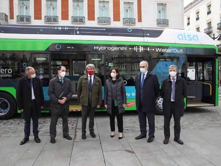 Madrid vai operar serviço regular com ônibus a hidrogênio