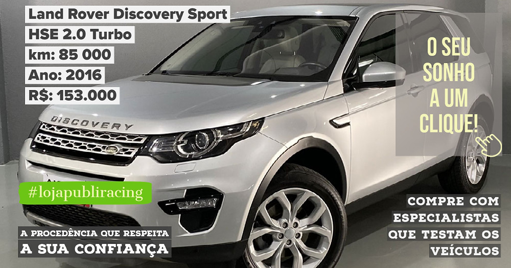 ACESSE #LOJA PUBLIRACING - Land Rover Discovery Sport