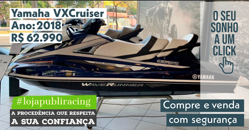 ACESSE #LOJA PUBLIRACING - Jet Yamaha VX Cruiser - Ano 2018