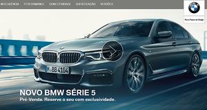 BMW lança hotsite exclusivo de pré-venda do novo BMW Série 5