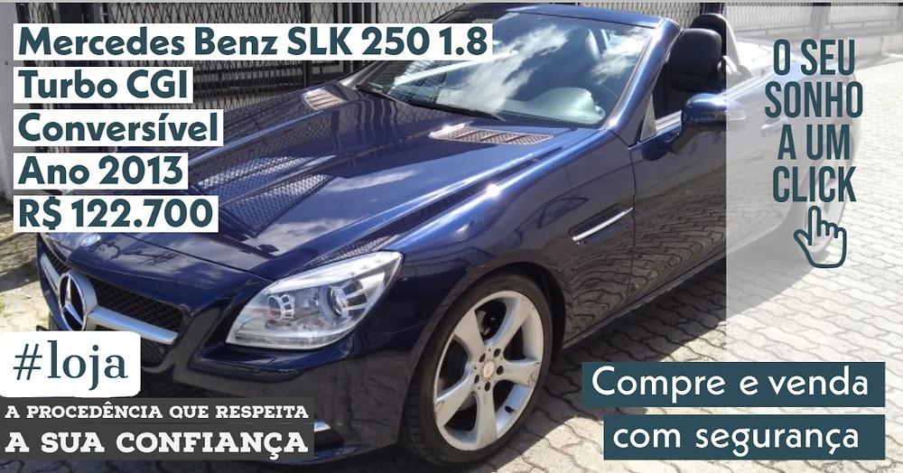 NA #LOJA PUBLIRACING - Mercedes-Benz SLK 250 1.8 Conversível - Ano 2013
