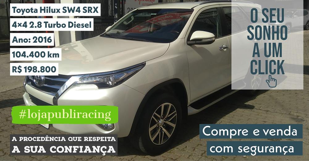 ACESSE www.revistapubliracing.com.br/loja - Toyota Hilux SW4 4x4 Turbo Diesel - Ano 2016