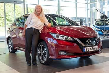 Maria Jansen, na Noruega - Nissan Leaf 500 Mil