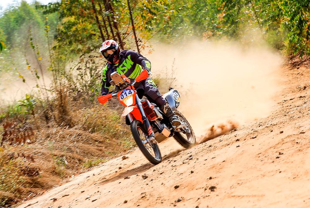 Motocicleta #14 de Manoel Neto, vencedor do Rally de Inverno 2018