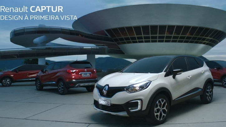 Campanha de lançamento do Renault Captur realça elegância do modelo em sua chagada ao mercado brasileiro.