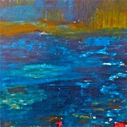 Bleu nuit, 80x80cm